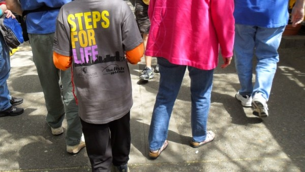 Isaiah Liljequist and the Steps for Life Walk-a-thon
