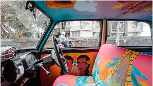 Taxi Fabric: Transforming Cabs Into Art Masterpieces